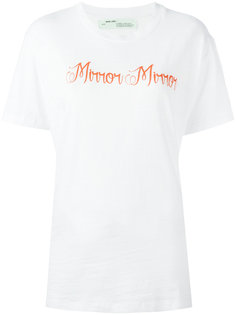 футболка с принтом mirror mirror Off-White