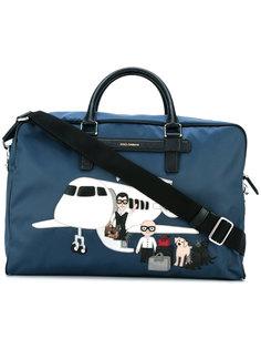 дорожная сумка с заплаткой Mediterraneo designers Dolce & Gabbana