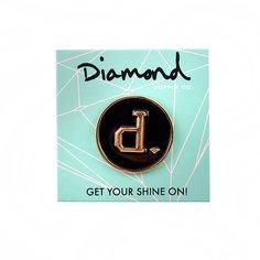 Значок Diamond Un-polo Metal Pins Black Gold