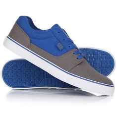 Кеды кроссовки низкие DC Tonik Tx Grey/Blue/White