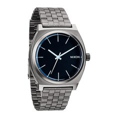 Часы Nixon Time Teller Gunmetal/Blue Crystal