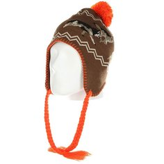 Шапка ушанка Ashbury Hunt Beanie Brown