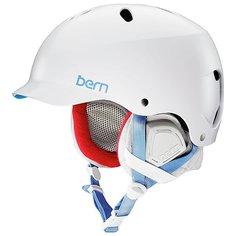 Шлем для сноуборда женский Bern Lenox White/Grey Premium Liner