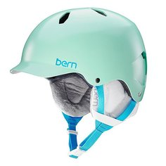 Шлем для сноуборда детский Bern Bandita Satin Mint Green/White Cordova Liner