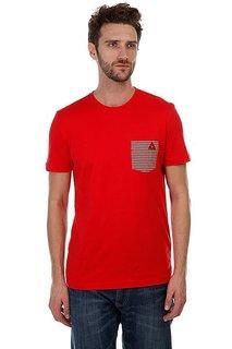 Футболка Le Coq Sportif Geo Jacquard Pocket Pur Rouge