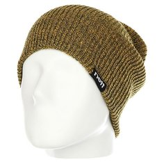 Шапка носок Neff Daily Double Beanie Green/Gold