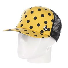 Бейсболка женская Volcom Crowned Queen Cheese Hat Yellow