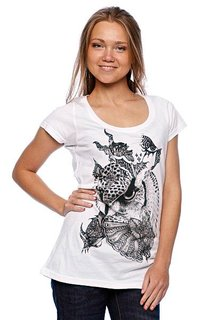 Футболка женская Volcom Fa Skullux Owl Ss White