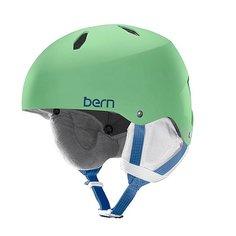 Шлем для сноуборда детский Bern Diabla Satin Lime Green/White Liner