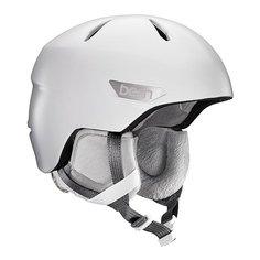 Шлем для сноуборда женский Bern Bristow Satin White/Grey Canvas Liner