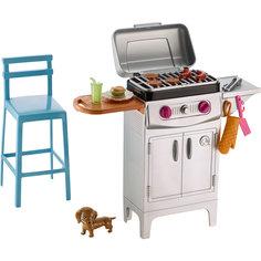 """Набор мебели """"Гриль и стул"""" из серии """"Отдых на природе"""", Barbie Mattel"""