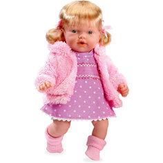 Кукла Elegance, в вязаной курточке, розовом платье, 28 см, смеется, Arias