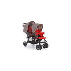 Прогулочная коляска для двойни Tandem, Baby Care, красный