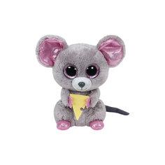 "Мягкая игрушка ""Мышонок Squeaker с кусочком сыра, 15 см"", Beanie Boos, Ty"