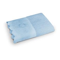 Полотенце махровое 70*140 Жаклин, Cozy Home, голубой
