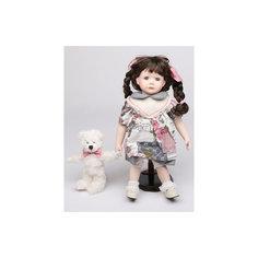 Интерьерная кукла Девочка с мишкой C21-148611, Estro