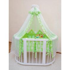 Постельное белье для овальной кроватки Grace 8 пр., Valle, зеленый