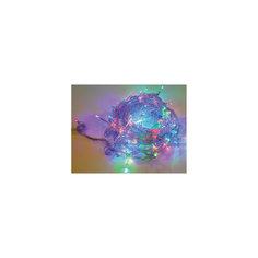 Электрогирлянда 100LED цветного свечения, прозрачный провод 8м, 8 режимов Новогодняя сказка