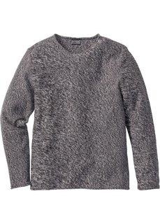 Пуловер Slim Fit (темно-синий меланж) Bonprix