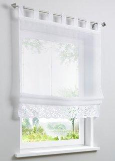 Римская штора Лара, петли (белый) Bonprix