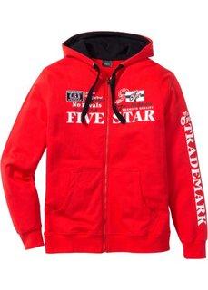 Трикотажная куртка Regular Fit с капюшоном (черный) Bonprix