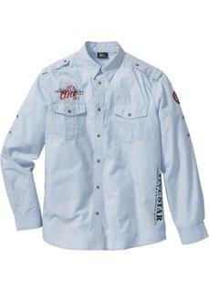 Рубашка Regular Fit с длинным рукавом (белый) Bonprix