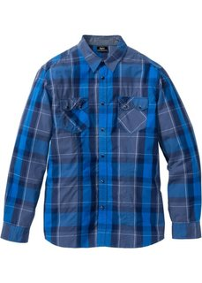 Клетчатая рубашка Regular Fit с длинным рукавом (красный в клетку) Bonprix