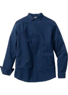 Рубашка Slim Fit с длинным рукавом (белый в полоску) Bonprix