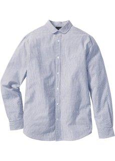 Рубашка Slim Fit с длинным рукавом (темно-синий в полоску) Bonprix