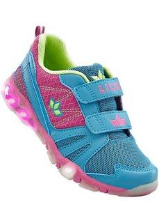 Кроссовки с мигалками марки Lico (ярко-розовый/бирюзовый) Bonprix