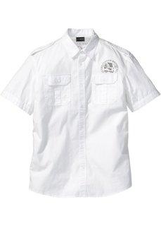 Рубашка Slim Fit с коротким рукавом (антрацитовый) Bonprix