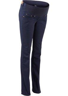 Для будущих мам: брюки заниженной посадки с прямыми брючинами (черный) Bonprix