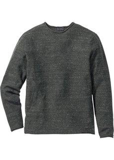 Пуловер Regular Fit (светло-серый меланж) Bonprix