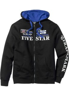 Трикотажная куртка Regular Fit с капюшоном (клубничный) Bonprix