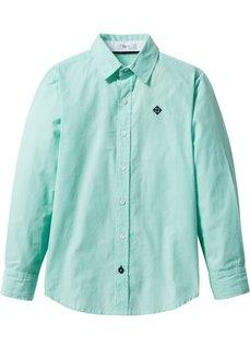 Рубашка (белый/синий ментол в полоску) Bonprix