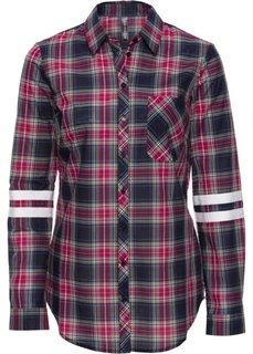 Клетчатая рубашка (темно-красный в клетку) Bonprix