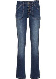 Прямые стрейтчевые джинсы, высокий рост (L) (темно-синий) Bonprix