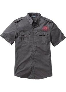Рубашка Slim Fit с коротким рукавом (цвет белой шерсти) Bonprix