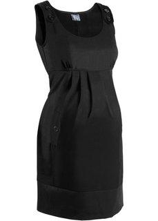 Деловая мода для беременных: платье в клетку (черный/темно-красный в клетку) Bonprix