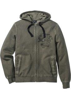 Трикотажная куртка Slim Fit (серый) Bonprix