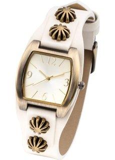 Наручные часы с декоративной отделкой (коричневый) Bonprix