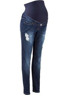 Для будущих мам: джинсы в стиле герлфренд (темно-синий «потертый») Bonprix