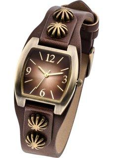 Наручные часы с декоративной отделкой (серовато-белый) Bonprix
