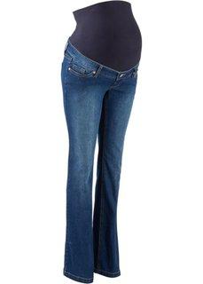 Для будущих мам: джинсы Flared (синий «потертый») Bonprix