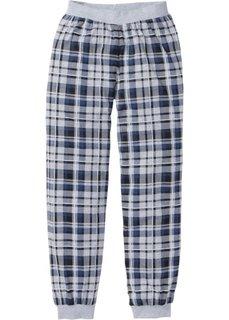 Пижамные брюки из трикотажа (светло-серый меланж в клетку) Bonprix