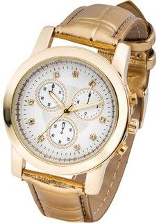 Наручные часы с анималистичным принтом (серебристый) Bonprix
