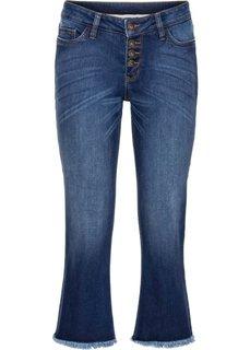 Укороченные расклешенные джинсы (темный деним) Bonprix