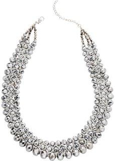 Ожерелье из граненых бусин (серебристый) Bonprix