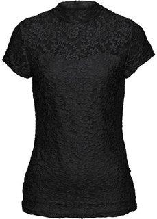 Кружевная футболка (кремовый) Bonprix