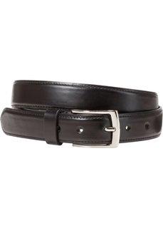 Уплотненный кожаный ремень (черный) Bonprix
